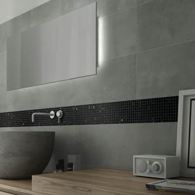 Mosaico Pietra Nera H 30 x L 30 cm nero