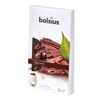 Candela profumata BOLSIUS essenza oud wood H 18 cm, 6 pezzi