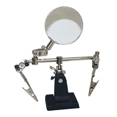 Supporto e lente per ferro da saldare