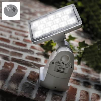 Applique Peri LED integrato con sensore di movimento, in policarbonato, grigio, 20W 1710LM IP54 LUTEC
