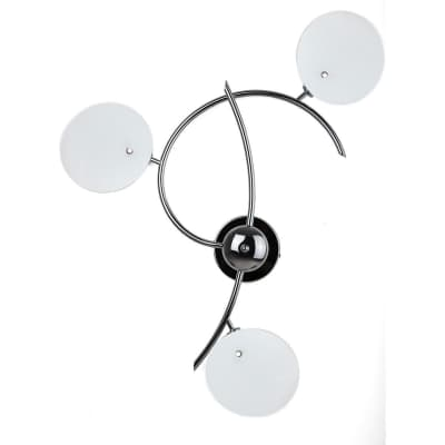 Plafoniera Debby cromato opaco, in metallo, 3  luci