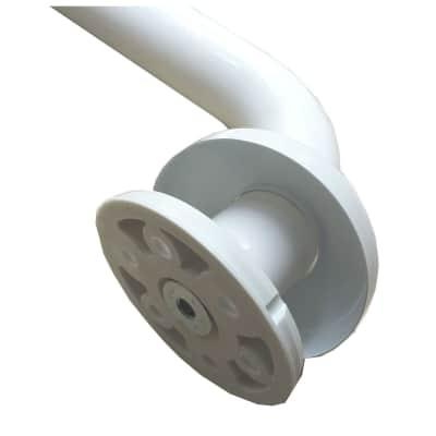 Maniglione in acciaio L 15 cm bianco