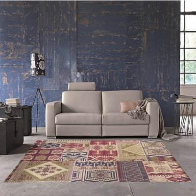 Tappeto Modern kilim , multicolor, 133x190