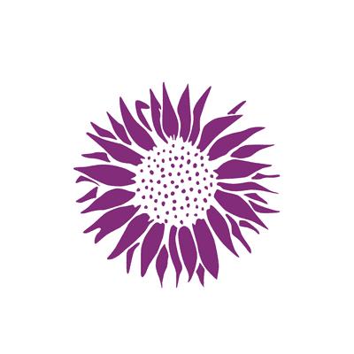 Stencil tema frutti e fiori LES DECORATIVES Girasole 38 x 0.1 cm