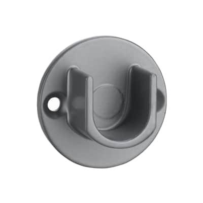 Supporto singolo aperto Ø16mm Rio in acciaio grigio lucido12.5 cm, 2 pezzi