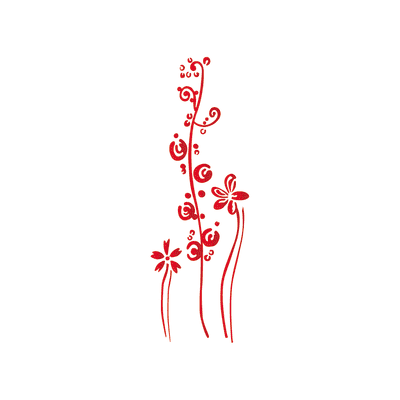 Stencil tema frutti e fiori LES DECORATIVES 40.0 x 0.1 cm