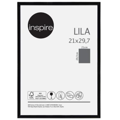 Cornice INSPIRE Lila nero per foto da 21x29.7(A4) cm