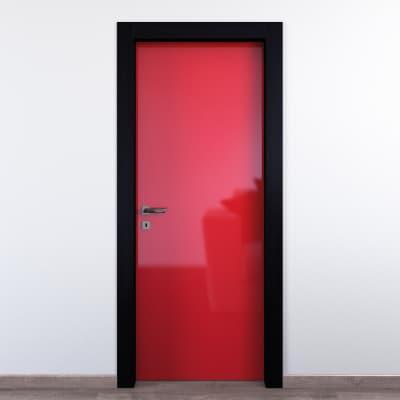 Porta a battente Dalì rosso L 60 x H 210 cm destra