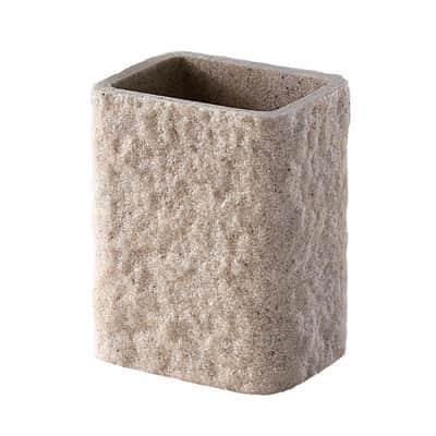 Porta spazzolini Aries in resina beige GEDY