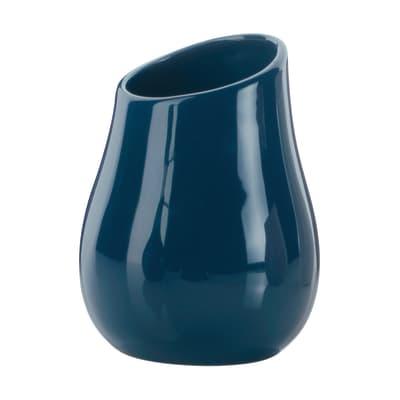 Porta spazzolini Azalea in ceramica blu