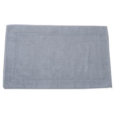 Tappeto bagno rettangolare Eponge in cotone grigio 80 x 50 cm