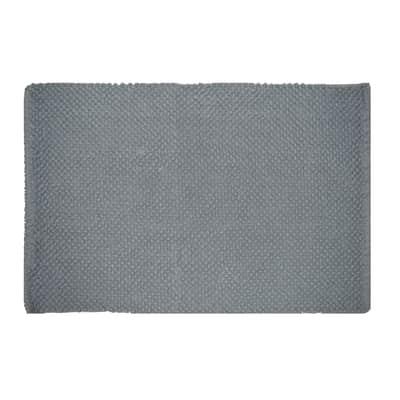 Tappeto bagno rettangolare Bubble in 100% cotone grigio perla 80 x 50 cm