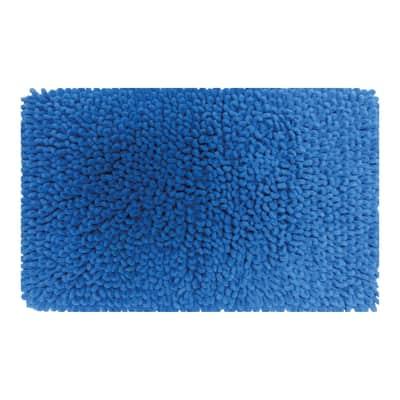 Tappeto bagno Time in cotone blu 80 x 50 cm