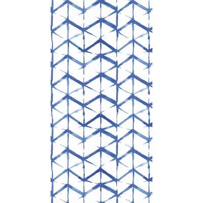 Tenda doccia Shibori in vinile blu L 240 x H 200 cm