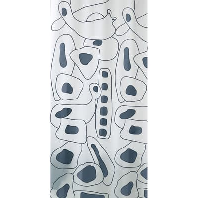 Tenda doccia Abstract in vinile grigio L 180 x H 200 cm
