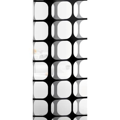 Tenda doccia Frames in vinile bianco/nero L 120 x H 200 cm