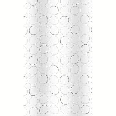 Tenda doccia Circle in poliestere grigio L 180 x H 200 cm