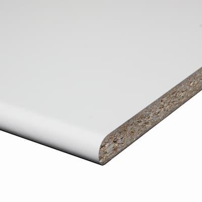 Piano di lavoro in legno bianco L 204 x H 60 cm, spessore 2.8 cm