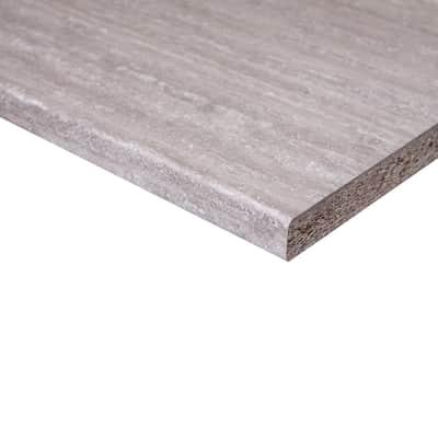 Piano di lavoro in legno grigio L 204 x H 60 cm, spessore 2.8 cm