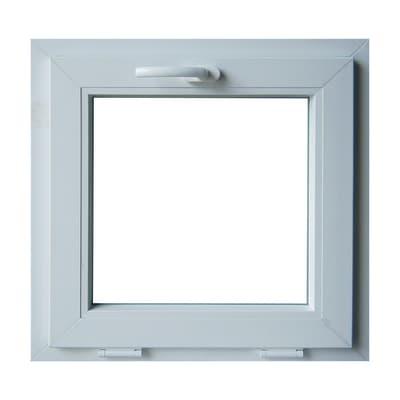 Finestra in pvc bianco L 60 x H 60 cm, 1 anta vasistas apertura superiore