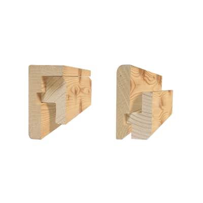 Profilo in larice L 2 m x H 70 x Sp 13 mm