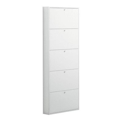 Scarpiera Slim 5 ante L 73 x H 180 x Sp 15 cm bianco