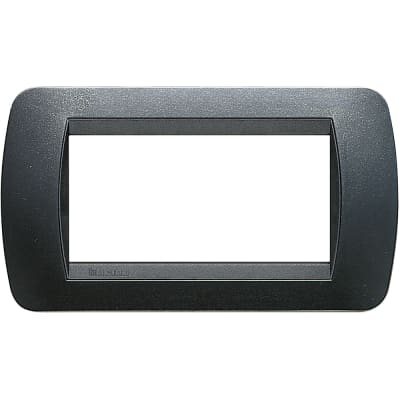 Placca BTICINO Living International 4 moduli grigio