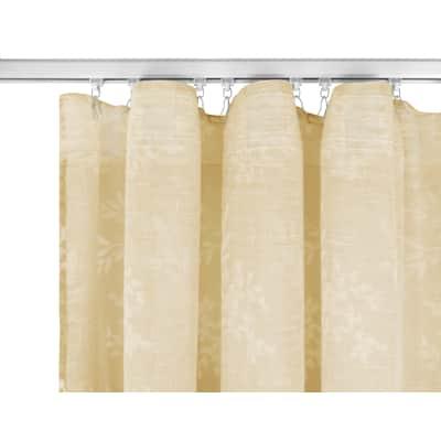 Tenda INSPIRE Abbyanya giallo fettuccia con passanti nascosti 135 x 280 cm
