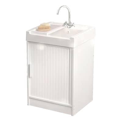 Mobile lavanderia Ice bianco L 59.2 x P 62.4 x H 84 cm