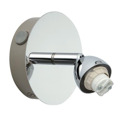 Base per faretto componibile Roma G9 1xMAX40W in metallo cromato lucido IP20 INSPIRE