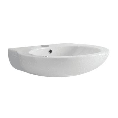 Lavabo sospeso ovale Full-Remyx L 60 x H 17 x P 23 cm in ceramica bianco