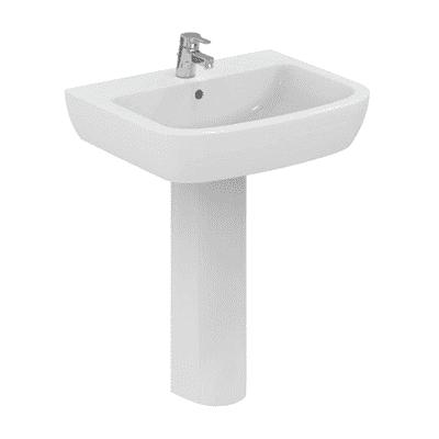 Lavabo sospeso rettangolare Suite L 65 x H 18.4 x P 52.5 cm in ceramica bianco