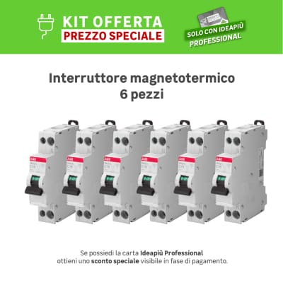 Kit Interruttore magnetotermico ABB SN201 L C16 1P +N 16A 4.5kA C 1 modulo 230V, 6 pezzi
