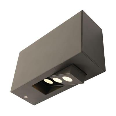 Applique Cubo LED integrato in alluminio, grigio, 9W 430LM IP54