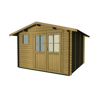 Casetta da giardino in legno Fanny,  superficie interna 7.45 m² e spessore parete 25 mm