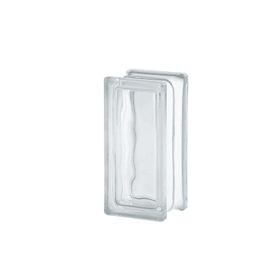 Vetromattone SEVES BASIC trasparente ondulato H 9 x L 19 x Sp 8 cm