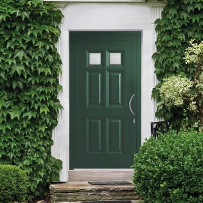 Portoncino d'ingresso Classic4 verde L 90 x H 210 cm sinistra