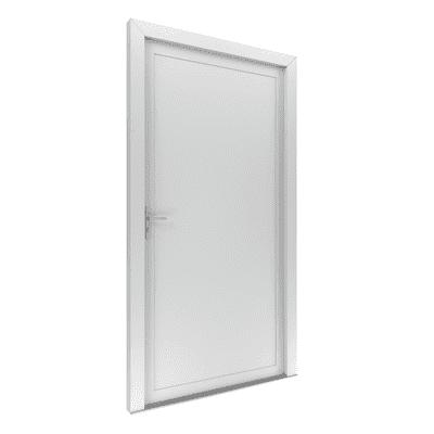 Portoncino d'ingresso Basa bianco L 80 x H 210 cm destra