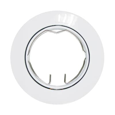 Ghiera per faretto da incasso orientabile tondo Clane in alluminio, bianco, diam. 8 cm 2.5xGU10 MAX0W IP23 INSPIRE 1 pezzi