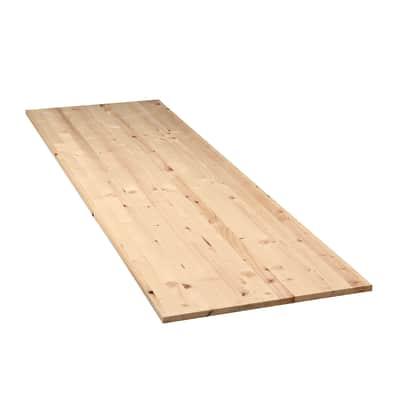 Tavola legno lamellare abete L 200 x H 60 cm Sp 18 mm