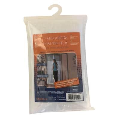 Tenda zanzariera magnetica a pannelli L 120 x H 230 cm bianco