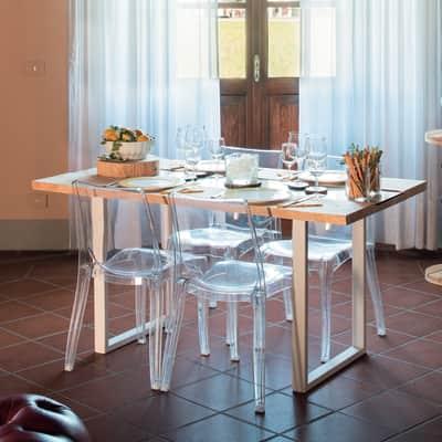 Tavolo rettangolare Synergo in legno L 80 x P 160 cm