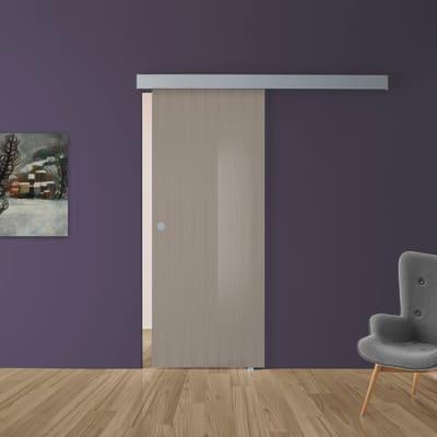 Porta scorrevole con binario esterno Cedar in vetro Kit A L 88 x H 215 cm dx