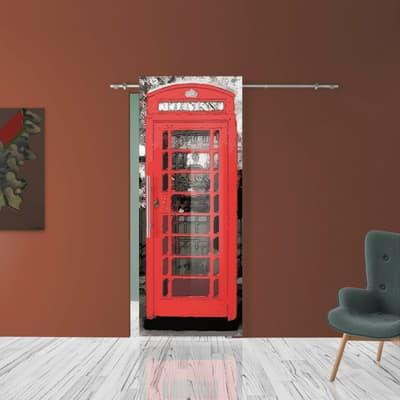 Porta scorrevole con binario esterno Phone in vetro Kit B L 88 x H 220 cm dx