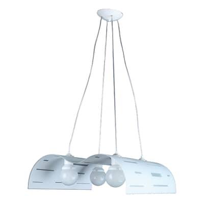 Lampadario Betsy bianco, grigio, in metallo, E27 4xMAX42W IP20