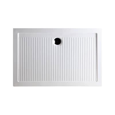 Piatto doccia ceramica Slim 100 x 80 cm bianco