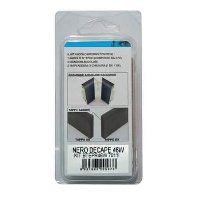 Angolare interno in kit nero 5 x 11 cm Sp 20 mm