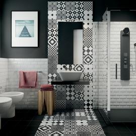 Rivestimenti bagno piastrelle bagno mattonelle e ceramiche - Piastrelle esagonali colorate ...