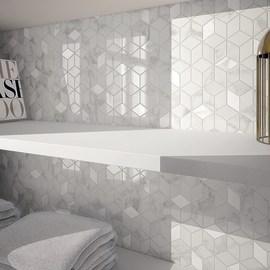 Mosaico Murano 26 x 28 cm bianco