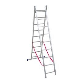 Scala sfilo alluminio Facal 2x9 gradini, per lavori fino a 5,1 m